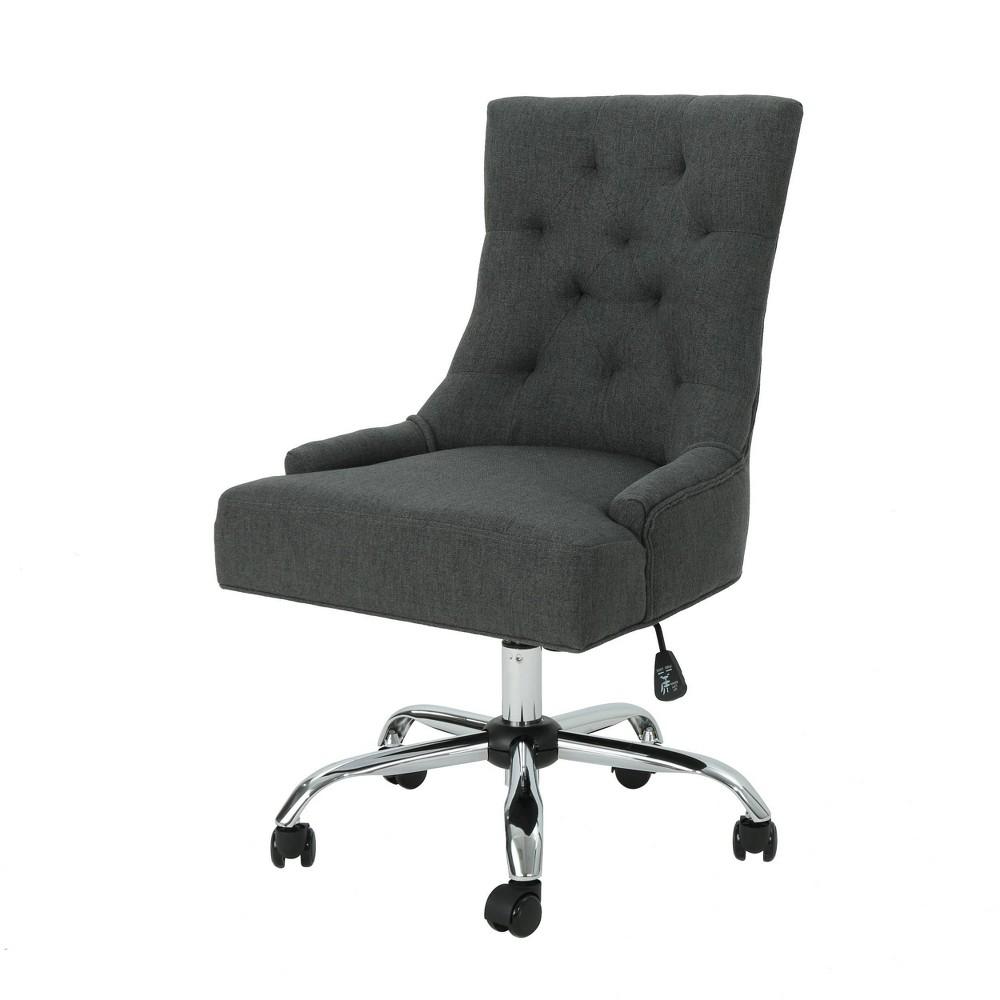 Americo Home Office Desk Chair Dark Gray - Christopher Knight Home