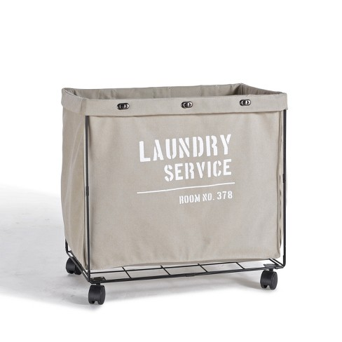 Danya B. Army Canvas Laundry Hamper on Wheels Mohave Earth - image 1 of 4