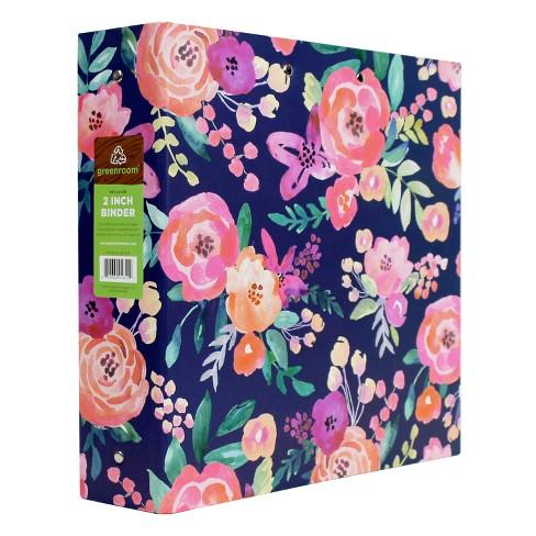 2 3 ring binder floral greenroom target