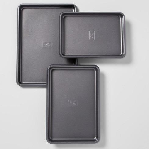 Set of 3 Non-Stick Cookie Sheets Carbon Steel - Made By Design™ - image 1 of 4