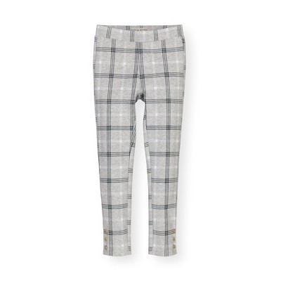 Hope & Henry Girls' Ponte Pants with Button Details, Kids