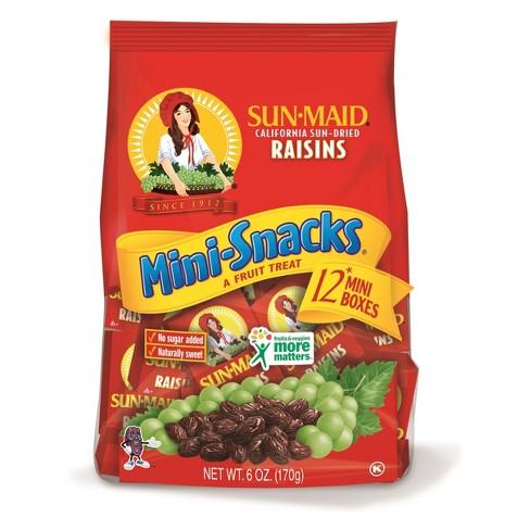 Sun-Maid Raisins Mini Snacks - 12ct/6oz - image 1 of 4
