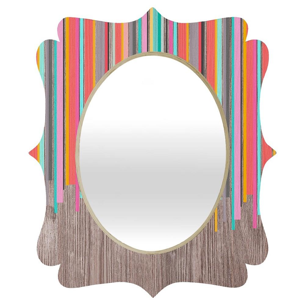 Oval Iveta Abolina Stripe Happy Quatrefoil Decorative Wall Mirror - Deny Designs, Multicolored