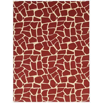 6' x 8' Animal Print Outdoor Rug - Foss Floors