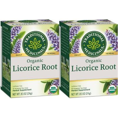 Tea Bags: Traditional Medicinals Licorice Root Tea Bags