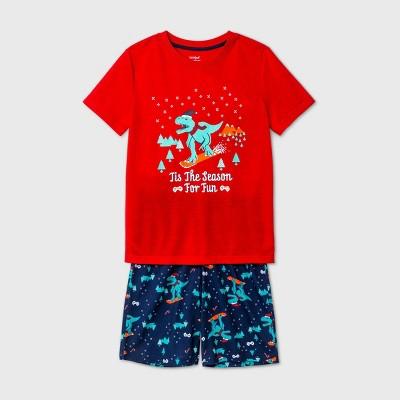 Boys' 2pc Dino Pajama Set - Cat & Jack™ Red S