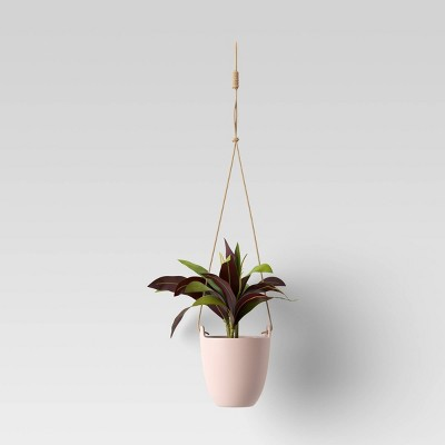 Artificial Hanging Potted Plant Blush Pink - Room Essentials™