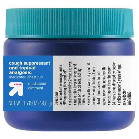 Cough Suppressant & Topical Analgesic Chest Rub Ointment - 1.76oz - Up&Up™ - image 1 of 1