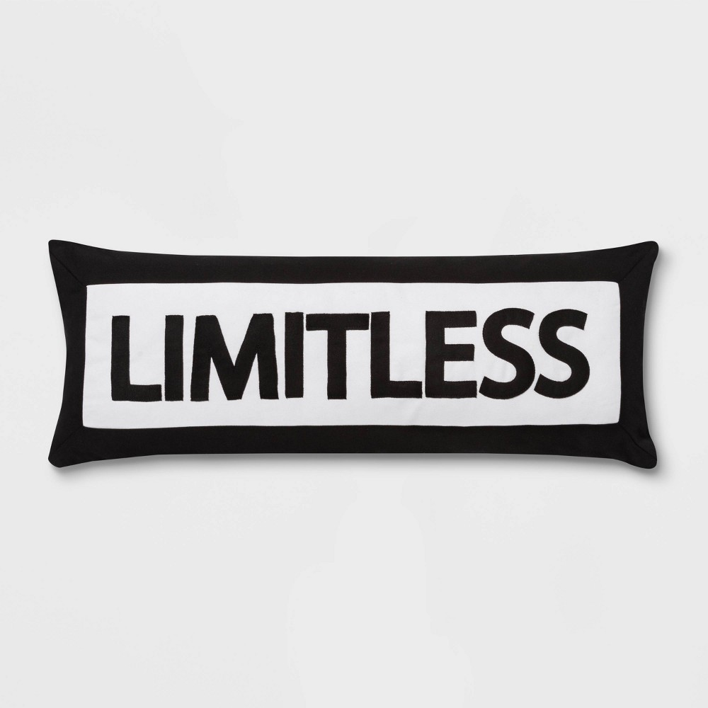 "Image of ""Boy Meets Girl LImitless 14""""x36"""" Throw Pillow"""