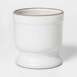 """4"""" x 3.6"""" Ceramic Planter White - Threshold™"""