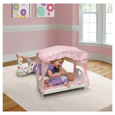 Gentil Badger Basket Doll Canopy Bed