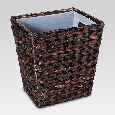 Wastebasket Dark Weave Black - Threshold™