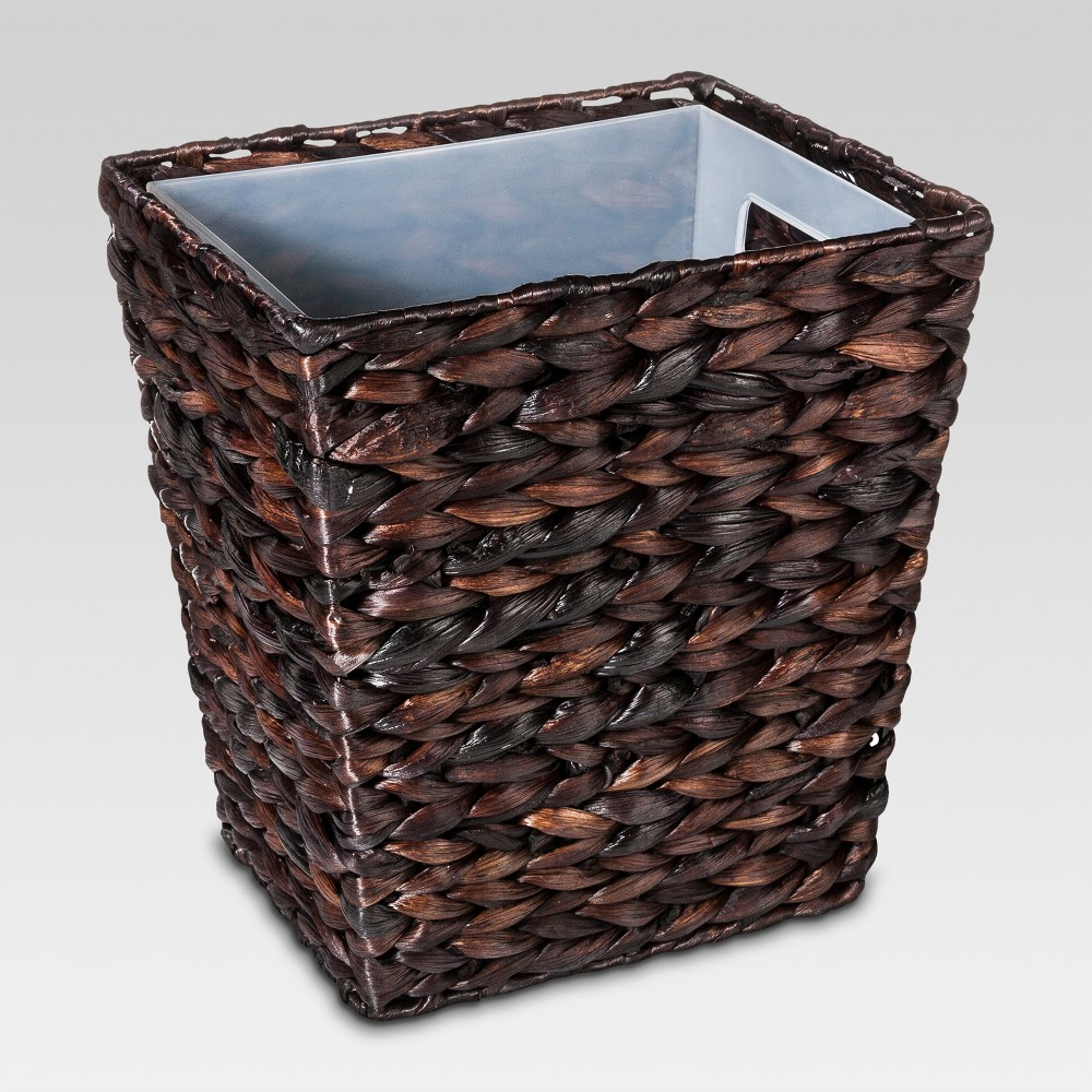 Wastebasket Dark Weave Black - Threshold, Black Universe
