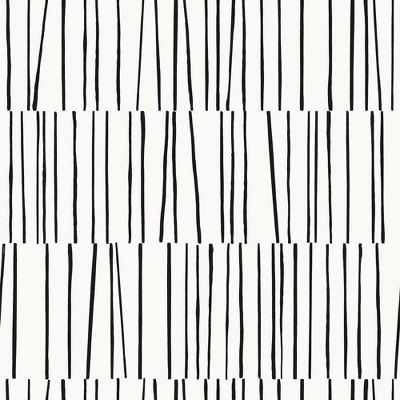 Tempaper Shift Self-Adhesive Removable Wallpaper White/Black