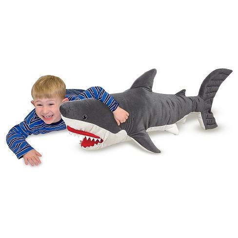 Melissa Doug Giant Shark Lifelike Stuffed Animal Over 3 Feet