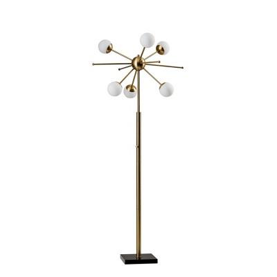 """63.5"""" Doppler Floor Lamp (Includes LED Light Bulb) Antique Brass- Adesso"""