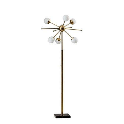 Doppler LED Floor Lamp Antique Brass (Includes Energy Efficient Light Bulb) - Adesso - image 1 of 2