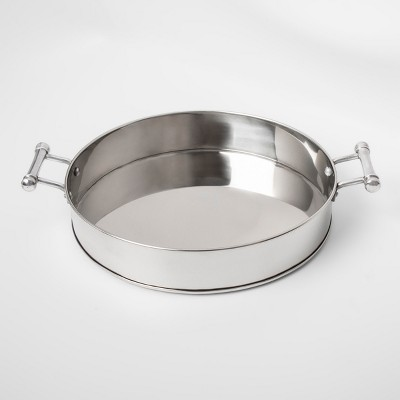17  Stainless Steel Serving Tray With Handles - Threshold™