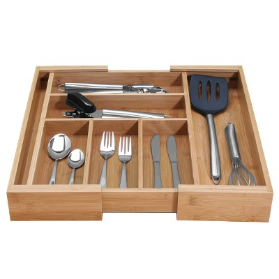 Danesco Bamboo Expandable Cutlery Tray