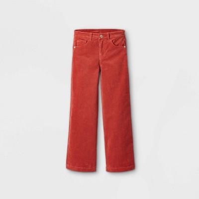 Girls' Wide Leg Corduroy Mid-Rise Jeans - art class™