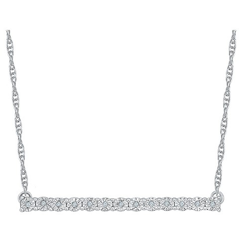 Diamond Accent Round White Diamond Bar Necklace in Sterling Silver (I-J,I2-I3) - image 1 of 1