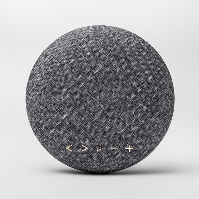 heyday™ Round Bluetooth Speaker - Gray/Gold