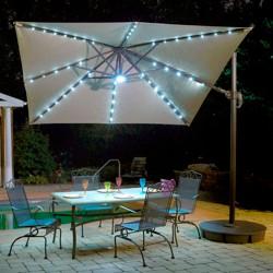 Island Umbrella Santorini Fiesta 10' Square Cantilever Umbrella