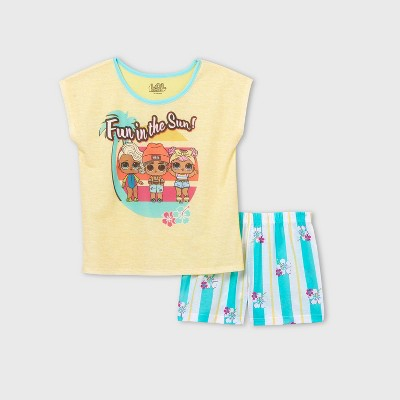 Girls' L.O.L. Surprise! Fun In The Sun 2pc Pajama Set - Yellow