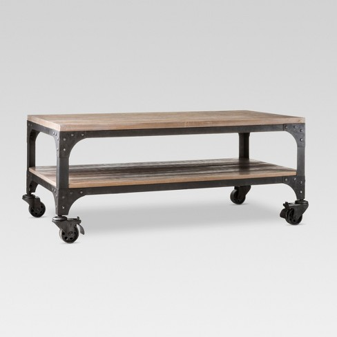 Franklin Coffee Table Weathered Gray Threshold Target - Target franklin coffee table
