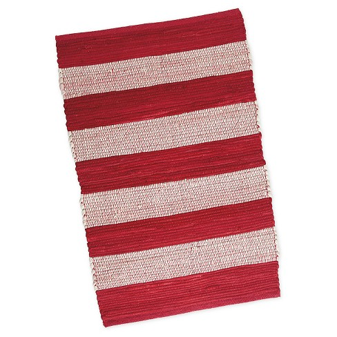 "Stripe Chindi Rug Red (20""X31.5"") - Design Imports - image 1 of 1"