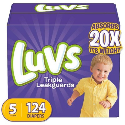 Luvs Disposable Diapers Giant Pack - Size 5 (124ct)