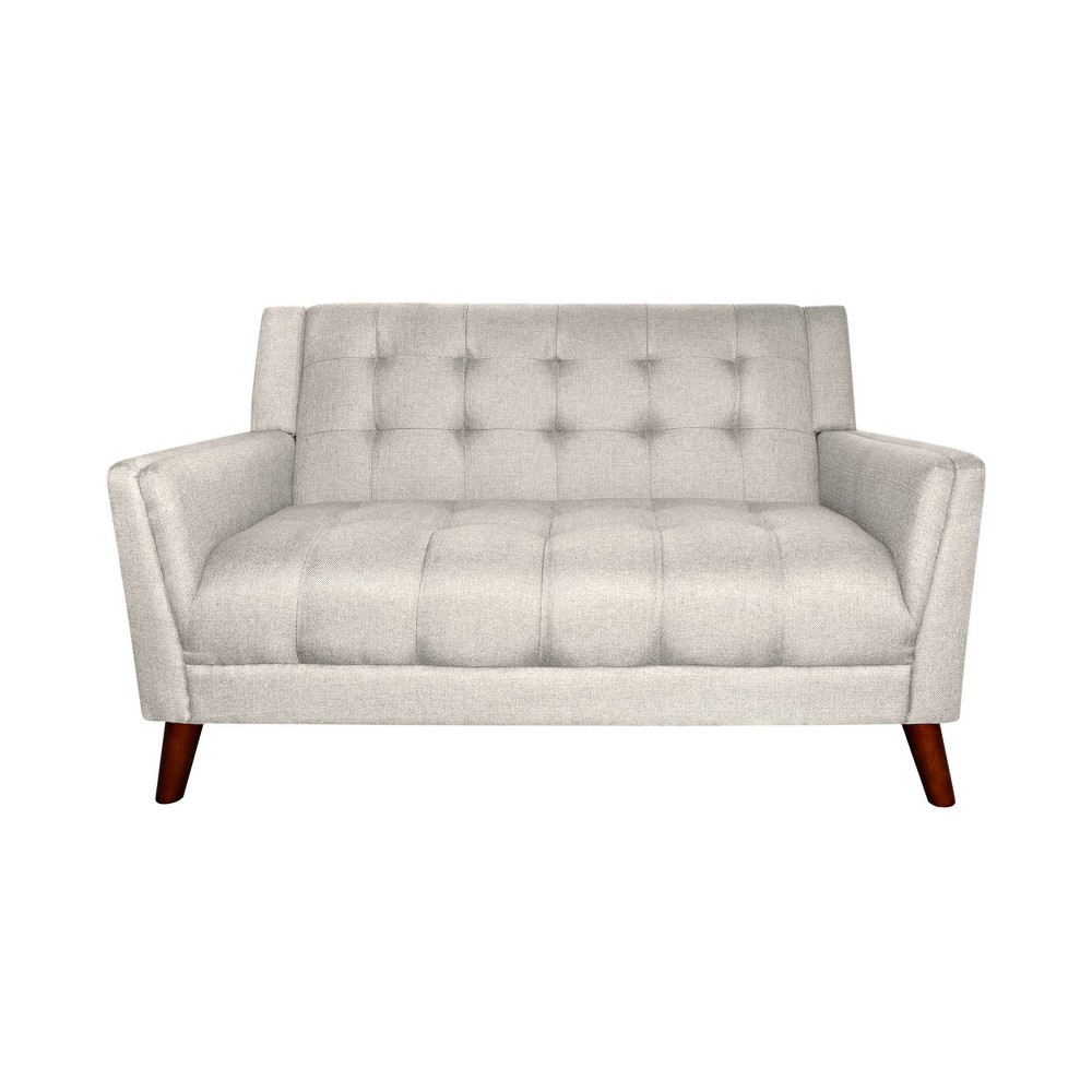 Candace Mid Century Modern Loveseat Beige Christopher Knight Home