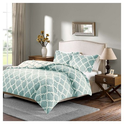Alston Reversible Plush Comforter Set (Full/Queen)Aqua - 3pc