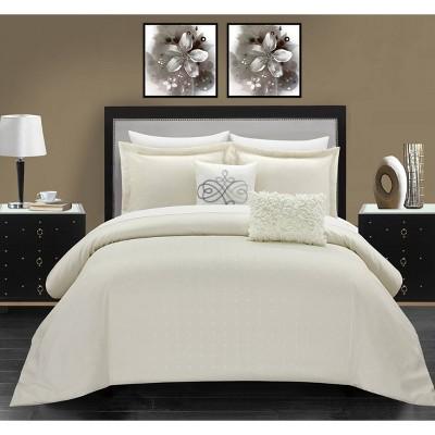 Queen 9pc Ellie Bed In A Bag Comforter Set Beige - Chic Home Design