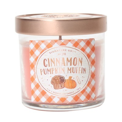4oz Small Lidded Jar Candle Cinnamon Pumpkin Muffin - Signature Soy