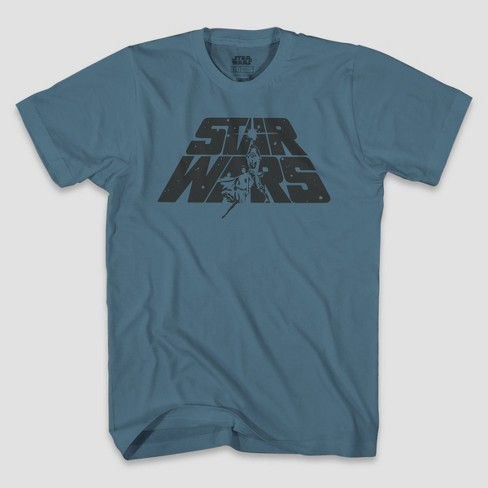 Men's Star Wars A New Hope Logo Short Sleeve Graphic T-Shirt - Blue - image 1 of 2