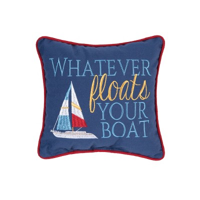 C&F Home Floats Your Boat Pillow