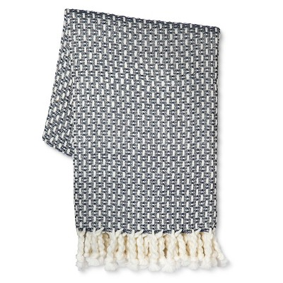 Blue Woven Throw Blanket - Threshold™