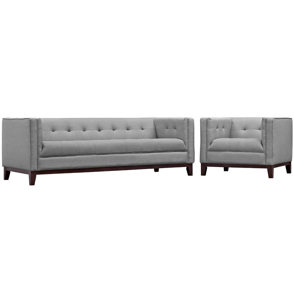 Serve Living Room Set Set of 2 Light Gray - Modway
