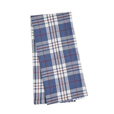 C&F Home Parker Blue & Red Plaid Woven Cotton Kitchen Towel