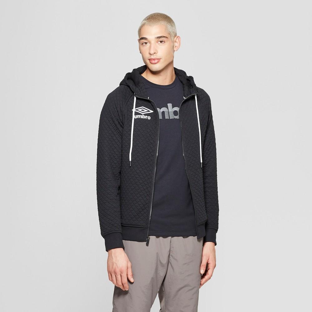 Umbro Men's Quilted Fleece Full Zip Hoodie - Black L