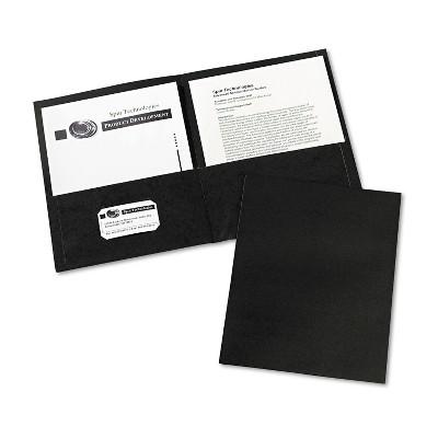 Avery Two-Pocket Folder 40-Sheet Capacity Black 25/Box 47988