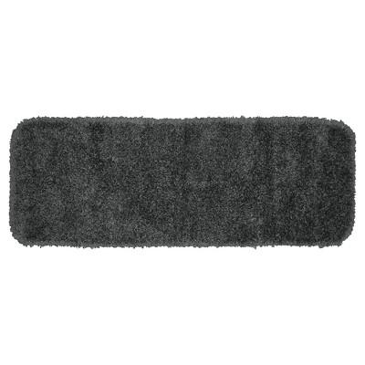 Garland Serendipity Shaggy Washable Nylon Bath Runner - Dark Gray (22 x60 )