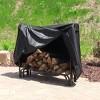 5' Outdoor Firewood Log Rack Cover - Black - Sunnydaze Decor - image 4 of 4