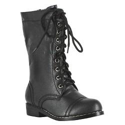 Kid's Combat Boots Black Costume