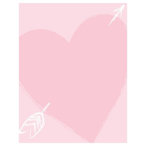 Heart Of Love Note Card Pink - image 1 of 3