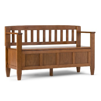 "48"" Riverside Solid Wood Entryway Storage Bench - Wyndenhall"