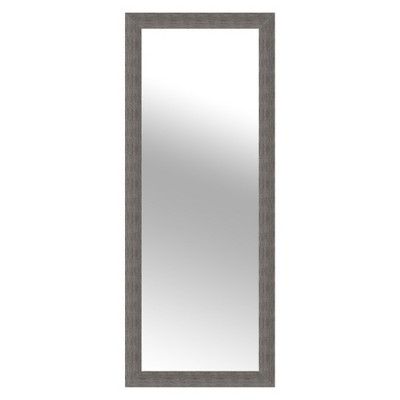 24 x70  Woodgrain Framed Wall or Leaner Mirror Gray - Gallery Solutions