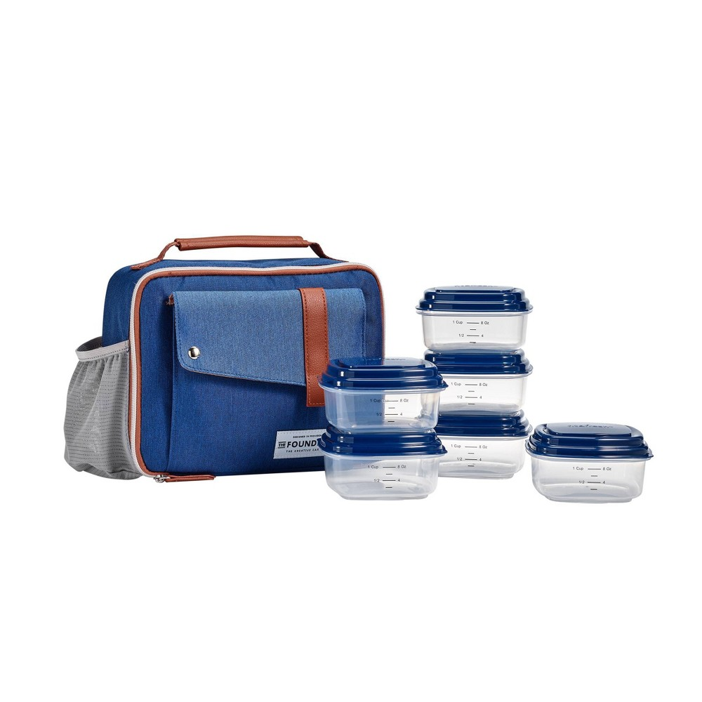 Image of Fit & Fresh Foundry Gaspee Lunch Kit - Navy