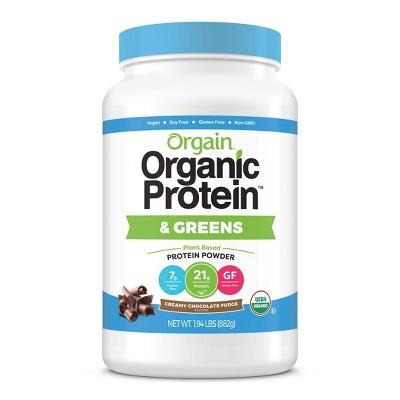Orgain Organic Vegan Protein & Greens Powder - Creamy Chocolate Fudge - 31oz